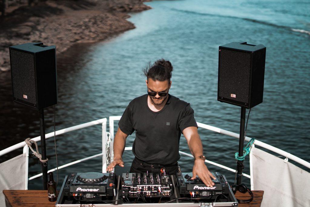 DJ on a boat